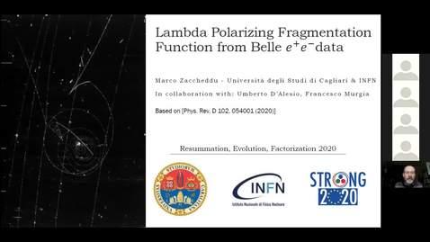 Thumbnail for entry REF2020: Marco Zaccheddu- Lambda Polarizing fragmentation function from Belle e+e- data