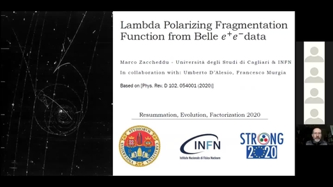 Thumbnail for entry REF2020: Marco Zaccheddu- Lambda Polarizing fragmentation function from Belle e+e- data