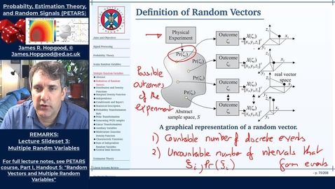 Thumbnail for entry Topic 26: Introduction to Random Vectors (PETARS, Chapter 5)