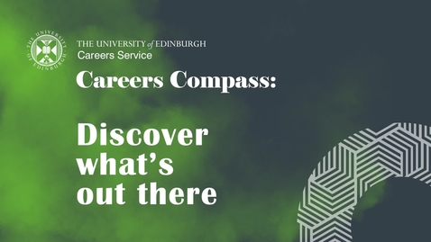 Thumbnail for entry Careers Compass: Discover what's out there