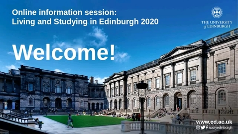 Thumbnail for entry Live Q&A: Living and Studying in Edinburgh 2020