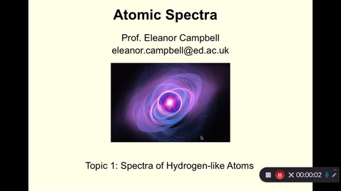 Thumbnail for entry Atomic Spectra Topic 1