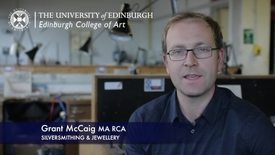 Thumbnail for entry Grant Mccaig -Silversmithing & Jewellery - Research In A Nutshell-Edinburgh College of Art-13/11/2012
