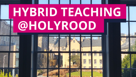 Thumbnail for entry Hybrid teaching mock classroom 3 - main channel