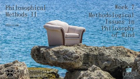 Thumbnail for entry EEM-APM-7.2 - Methodological Issues in Philosophy of Mind 2 (Jesper Kallestrup)