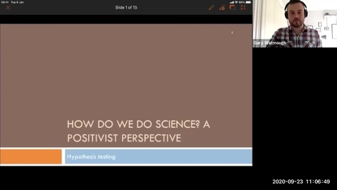Thumbnail for entry Week 1 Lecture 3 - Positivism and Hypotheses