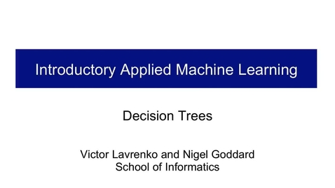 Thumbnail for entry Decision Trees - An Introduction