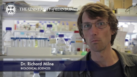 Thumbnail for entry Richard Milne - Biological Sciences- Research In A Nutshell - School of Biological Sciences -16/08/2012