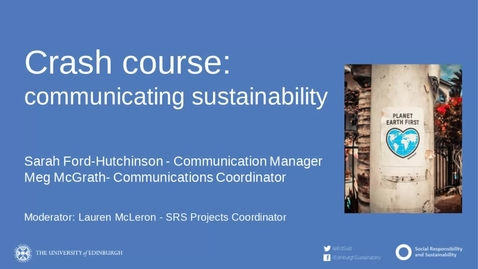Thumbnail for entry Crash course in communicating sustainability
