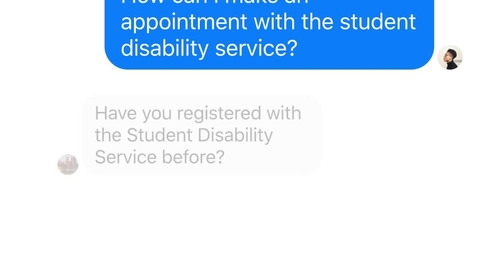 Thumbnail for entry Higher Education Conversational UI - Appointment