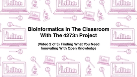 Thumbnail for entry Bioinformatics In The Classroom With The 4273π Project, (Video 2 of 3) Finding What You Need, Innovating With Open Knowledge