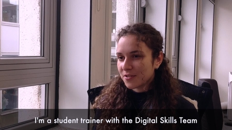 Thumbnail for entry Tina Maria Abu-Hanna, Student Trainer Digital Skills Video