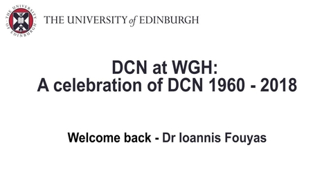 Thumbnail for entry Celebrating DCN at WGH - Dr Ioannis Fouyas, welcome back