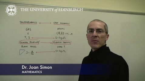Thumbnail for entry Joan Simon- Mathematics- Research In A Nutshell - School of Mathematics -22/01/2013