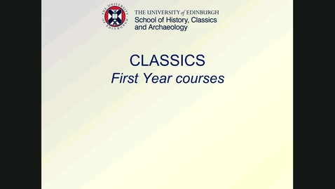Thumbnail for entry HCA - Classics option courses 2020