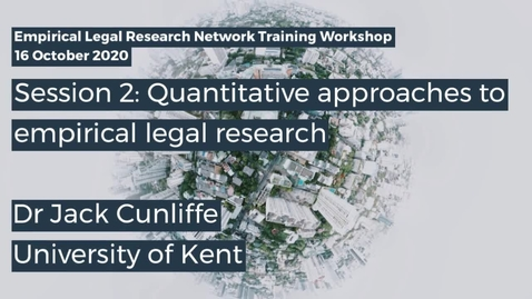 Thumbnail for entry ELRN 2020 Session 2 - Dr Jack Cunliffe