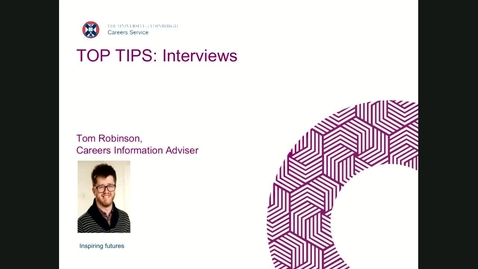 Thumbnail for entry Top Tips: Interviews