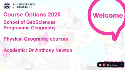 Thumbnail for entry GeoSciences - Physical Geography Course Options in 2020