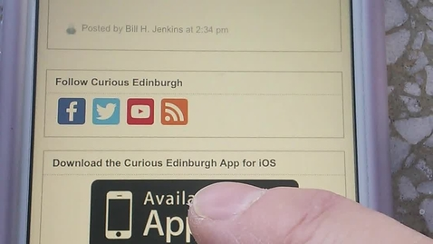 Thumbnail for entry How to download the Curious Edinburgh iOS app to your device