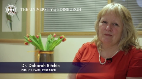 Thumbnail for entry Deborah Richie -Public Health Research - Research In A Nutshell- School of Health in Social Science-06/03/2013