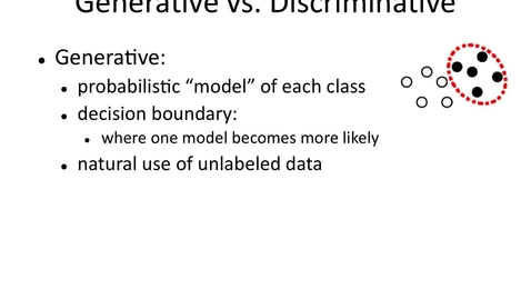 Thumbnail for entry Generative vs. Discriminative Learning
