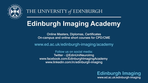 Thumbnail for entry Victoria & Bernadette, Neuroimaging for Research / Imaging MSc online students