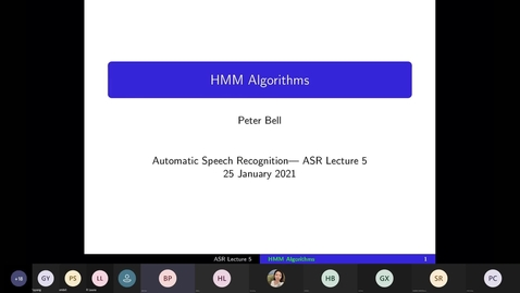 Thumbnail for entry ASR Lecture 5