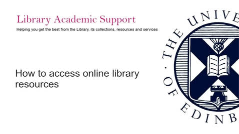 Thumbnail for entry PG How to access online Library resources