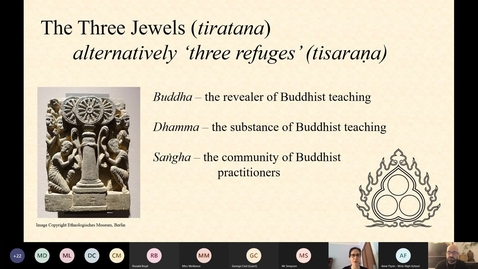 Thumbnail for entry Introduction to Key Concepts 1: Buddha, Dhamma, Sangha