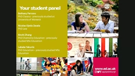 Thumbnail for entry 'Ask our students' panel - 26 July 2017