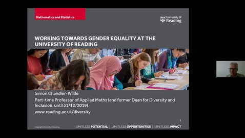 Thumbnail for entry Working towards gender equality at the University of Reading - Simon Chandler-Wilde