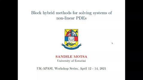 Thumbnail for entry UK-APASI in Mathematical Sciences: Sandile Motsa