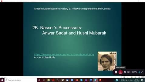 Thumbnail for entry 2B Nasser's Successors Sadat and Mubarak part 1