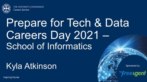 Thumbnail for entry Prepare for Tech  Data Careers Day 2021 Informatics