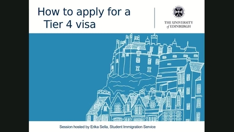 Thumbnail for entry How to apply for a Tier 4 visa - 26/02/2020