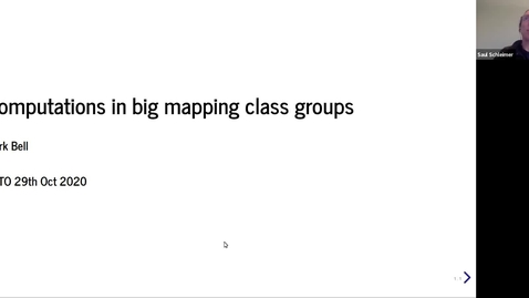 Thumbnail for entry Computations in big mapping class groups - Mark Bell