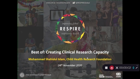Thumbnail for entry RESPIRE Showcase: Best of Creating Clinical Research Capacity