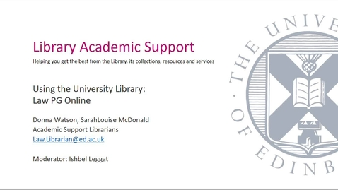 Thumbnail for entry PG Online- Introduction to the library (PART1)