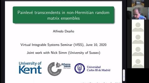 Thumbnail for entry Painlevé transcendents in non-Hermitian random matrix ensembles  - Alfredo Deano