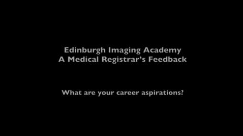 Thumbnail for entry Nick, Imaging MSc online student - Career development