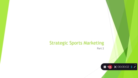 Thumbnail for entry Strategic Sports Marketing lecture (part 2)
