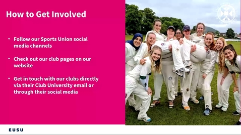 Thumbnail for entry How to get involved in sports clubs!