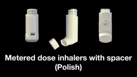 Thumbnail for entry Metered dose inhalers with spacer (Polish)