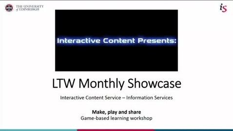 Thumbnail for entry LTW Monthly Showcase - 31st May 2018