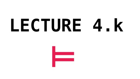 Thumbnail for entry CL - Lecture 4.k - Logic and Algebra
