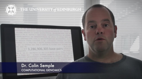 Thumbnail for entry Colin Semple -Computational Genomics-Research In A Nutshell- MRC Institute of Genetic and Molecular Medicine-27/08/2012