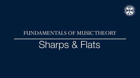 Thumbnail for entry Fundamentals of music theory - Sharps and flats