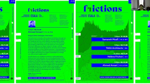 Thumbnail for entry  Ahmed Ansari : ESALA Frictions