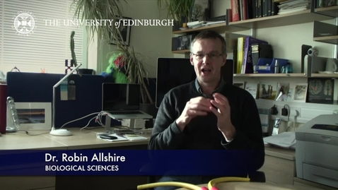 Thumbnail for entry Robin Allshire - Biological Sciences- Research In A Nutshell - School of Biological Sciences -21/01/2013