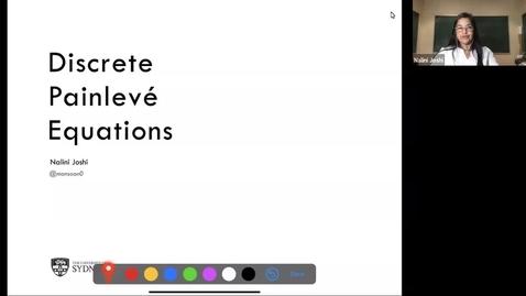 Thumbnail for entry Discrete Painlevé equations - Nalini Joshi